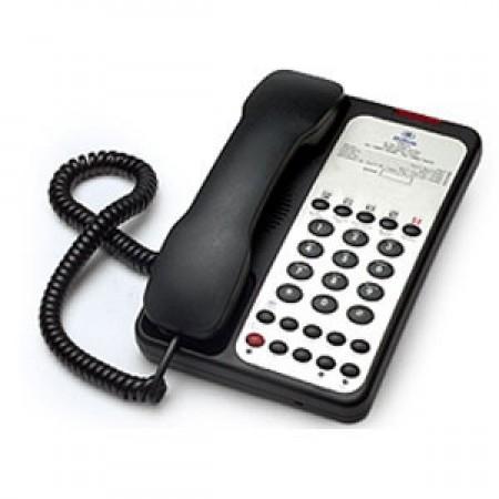 Teledex Opal 1010S (OPL763391) - Single Line Hotel Phone (Black)