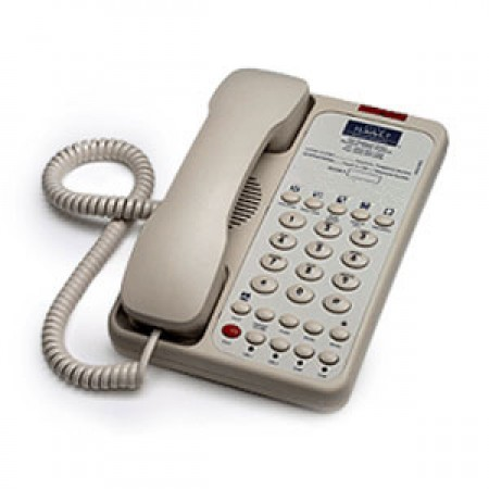 Teledex Opal 2006S (OPL78149)- Two Line Hotel Phone (Ash)