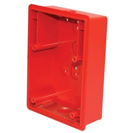 Red Surface Backbox For E50 Speaker/Strobe  | E50SSB-R