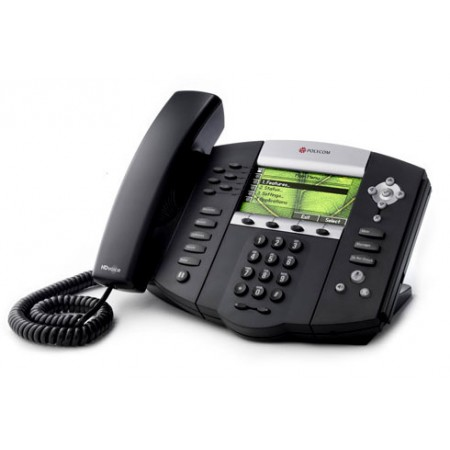 SoundPoint IP 670 A premium, SIP desktop phone with color display delivering HD Voice, visual and ap
