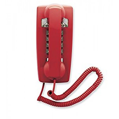 Red Emergency Analog Wall Phone 2554 12 Units Per Case
