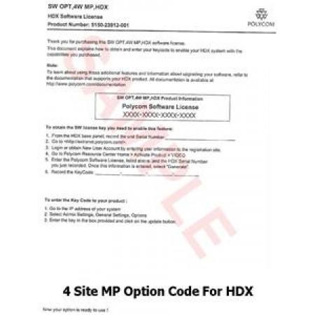 Polycom HDX 4Mbps Line Rate Upgrade - 5150-23914-001