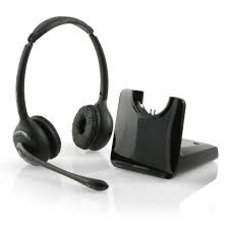 Binaural Wireless Headset with Handset Lifter
