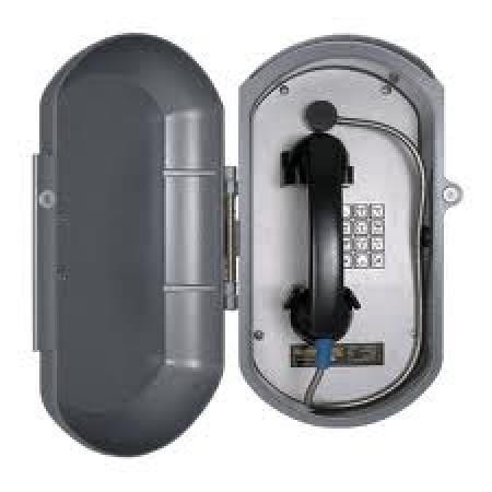 Cast Aluminum IP Telephone w/ Metal Keypad & Armored Handset Cord
