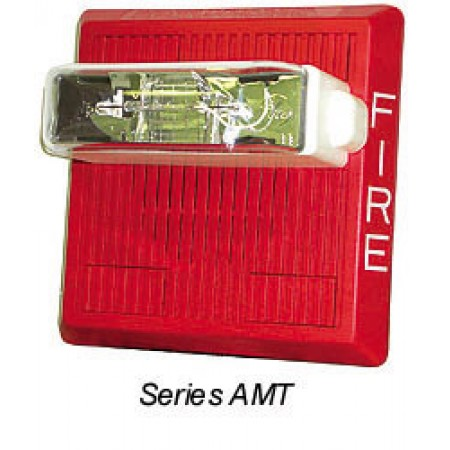 White AMT Series Multitone Strobe 24 VDC, 15/30/75/110   AMT-24MCW-FW
