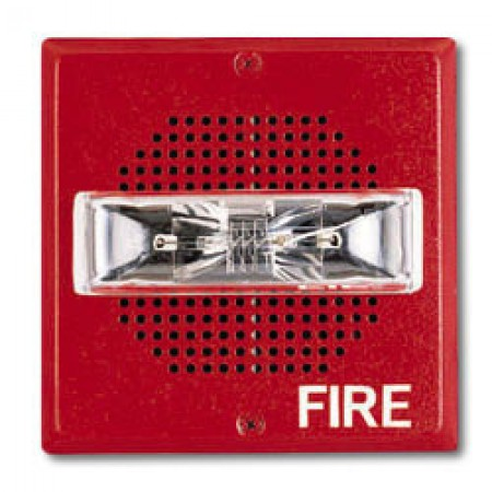 Red 24V Wall Mount Chime Strobe 15/30/75/110  | CH70-24MCW-FR
