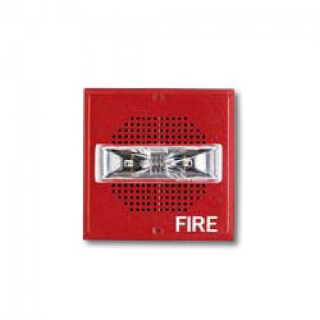 Red Wall Mount Chime Strobe, 24 VDC, 135/185  | CH70-24MCWH-FR