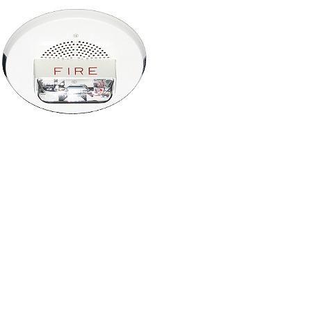 Red Ceiling Mount Fire Chime Strobe 24 VDC, 15/30/75/95 | CH90-24MCC-FR