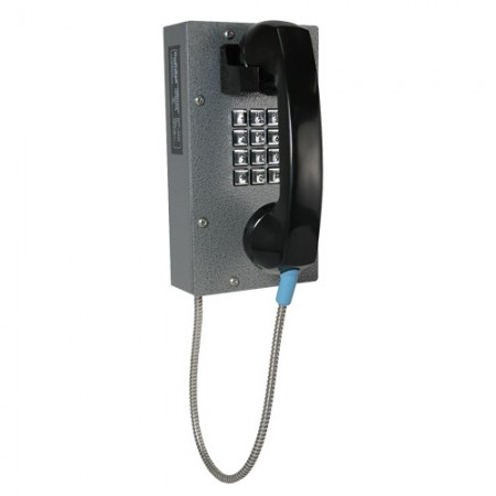Industrial Correctional Telephone with Metal Keypad/Armored Cord