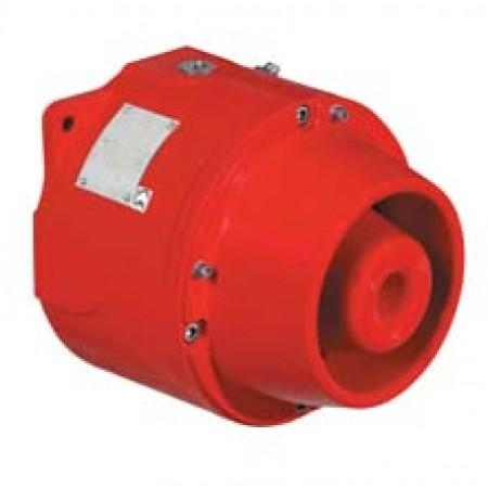 Explosion Proof Horn Multitone, 100dBA, 24 VDC, Red finish | DB1HPULA024D1D2NNNR