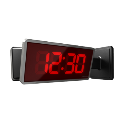 "Digital Wireless School Clock 4"" 6 Digits"