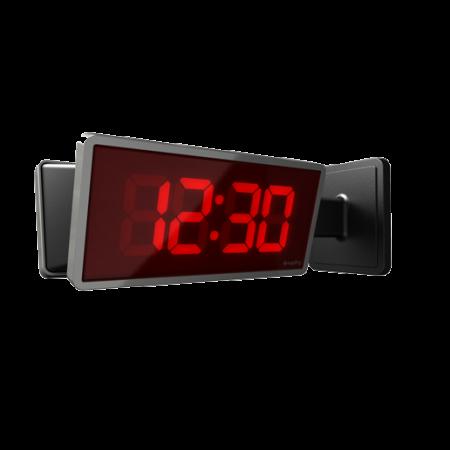 """School Digital IP Clock 2.5"""", 4 Digit Red"""