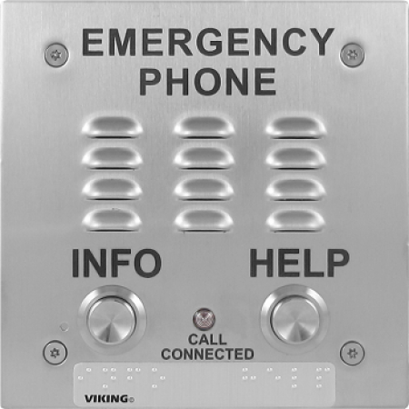 Viking Two Button VoIP Emergency Phone E-1600-IP-EWP