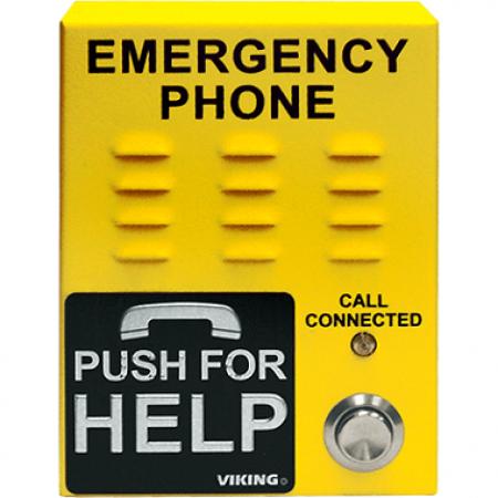 Viking Yellow VoIP Emergency Phone E-1600-45-IP