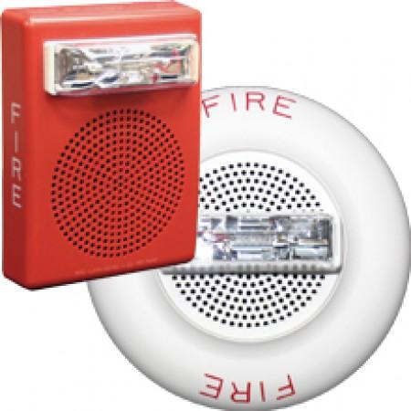 White E50H Series High FIdelity Wall Mount Speaker Strobe 135/185 | E50H-24MCWH-FW