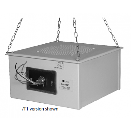 Quam Sound Masking Speaker 'Quiet Steel' 70V (Rotary Select)