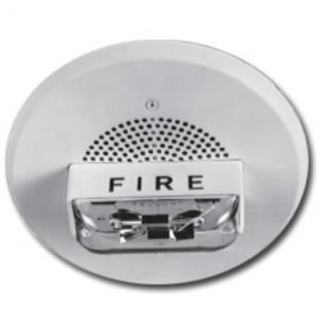 White Ceiling Mounted E90  Speaker Strobe 115/177  | E90-24MCCH-FW