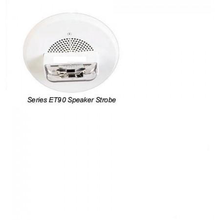 White Ceiling Mount Series ET90 Strobe Candela 15/30/75/95 | ET90-24MCC-NW