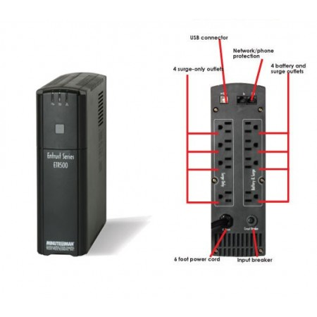 ETR500 UPS for Computers and Phone