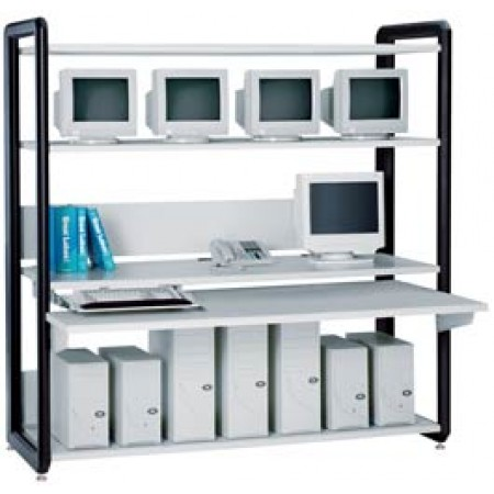 "Office Furniture: Advantage A2 Computer Desk - 54.00""W x 45.20""D x 78.00-79.50""H with leveling glide"