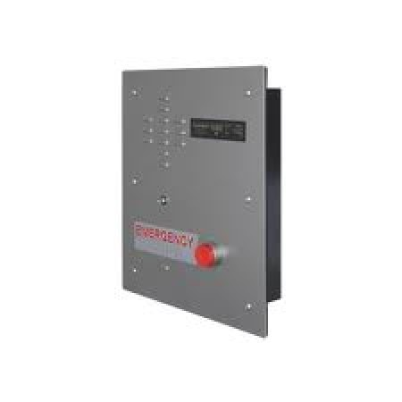 Emergency Recessed IP Call Box w/  Call Button & Auxilliary Relay