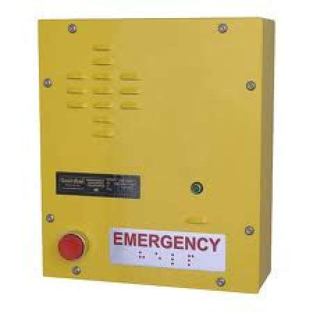 Emergency Wall Mount IP Telephone w/ Single Emergency Call Button & Auxilliary Relay