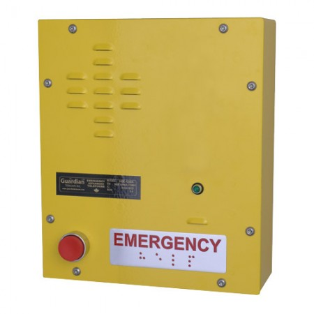 Heavy Duty Emergency Wall Mount Telephone with Two Auxiliary Relays
