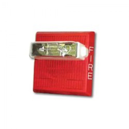 Red Ceiling Mount Weatherproof Audible Horn Strobe - 115/77 cd