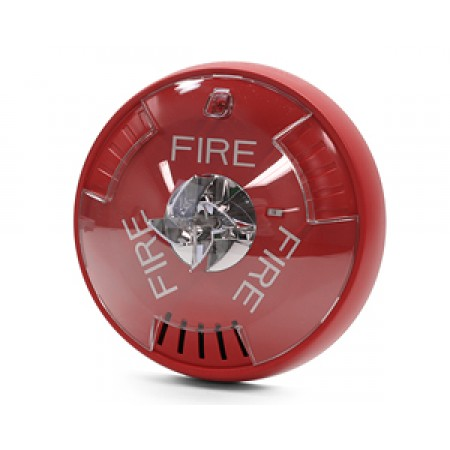 Red Ceiling Mount Exceder Fire Alerting Horn Strobe