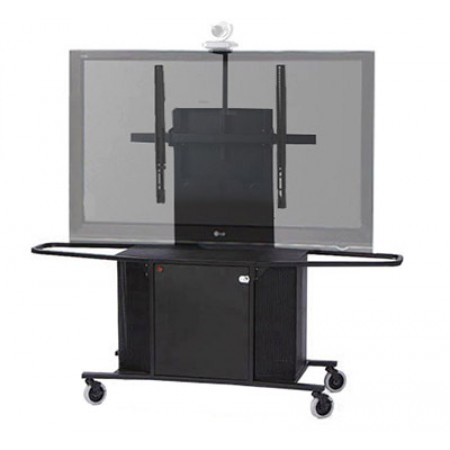 """Video Conference Cart Single Monitor for 50""""-90"""" Displays"""