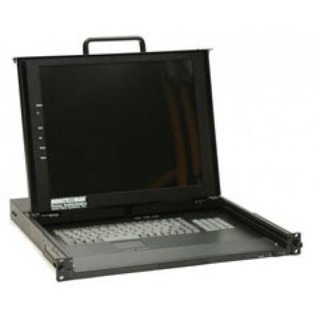 """17"""" Rackmount Monitor with Keyboard and Mouse Devices"""