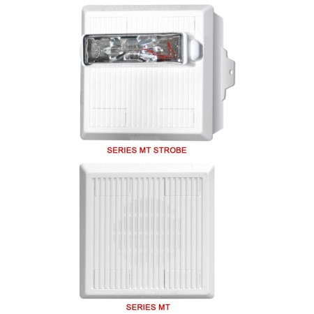 Wall Mount Multitone Electronic White Horn Strobe - 12 VDC, 15/75 (NO LETTERING) | MT-121575W-NW
