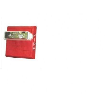 Red Multitone Electronic Horn Strobe  24 VDC 15/30/75/110