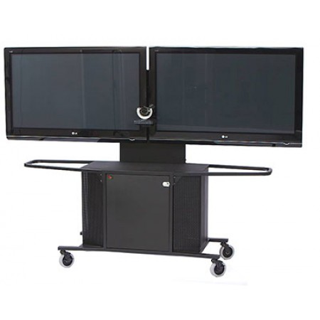 """Video Conference Cart Dual Monitor for 60""""-80"""" Displays"""