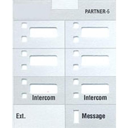 Partner Telephone 6  Button Designation Strips (10/pk.)