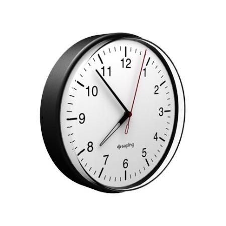 """Sapling 16"""" Wireless Talkback School Clock (White Case)"""