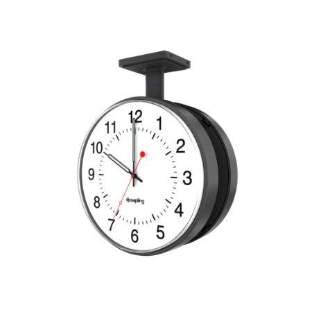 "12"" Wireless Analog Clock for Schools (Black Case)"