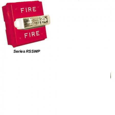 Red, Wall Mount Series RSSWP Strobe 24VDC Fire Lettering | RSSWP-2475W-FR