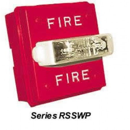 White, Wall Mount Series RSSWP Strobe 24VDC No Lettering | RSSWP-2475W-NW
