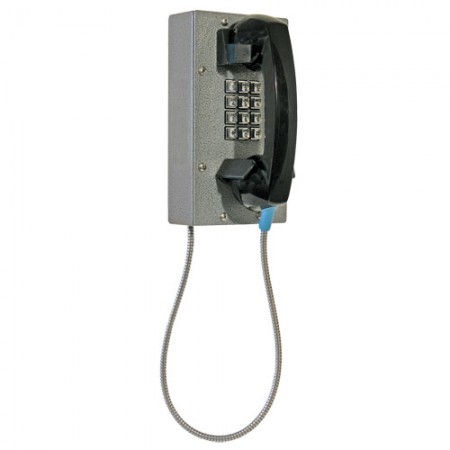 Industrial Steel Telephone with Weather and Dust Proof Metal Keypad/Armored Cord