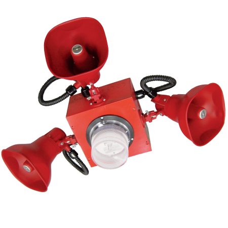 Cluster Speaker with Three Horns and One Strobe | STH-3MSR