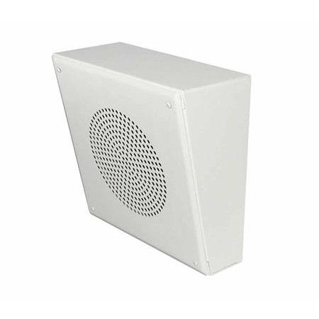 White 25 70v Wall Mounted Slanted Speaker System With