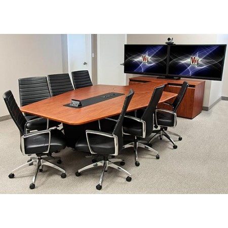 T4000 T3 Video Conference Table (Table, Credenza, Mount, Base Cover)