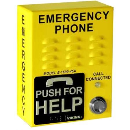 Bright Yellow ADA Compliant Emergency Call Box