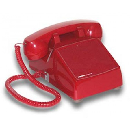 Viking Hot Line Desk Phone with built-in Programmable Dialer in RED (VIK-K-1900-D2-RED)