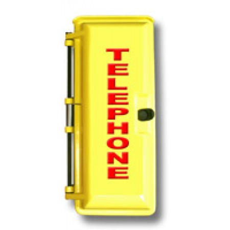 Bright Yellow Outdoor Weather Proof Emergency Phone Enclosures