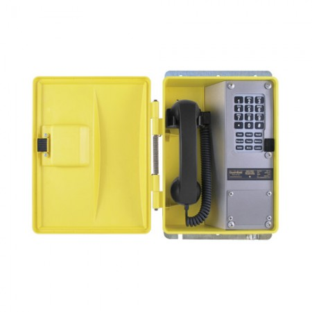 Weatherproof Telephone with Membrane Keypad