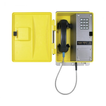 Weatherproof Telephone with Metal Keypad and Armored Cord WRT-40-H