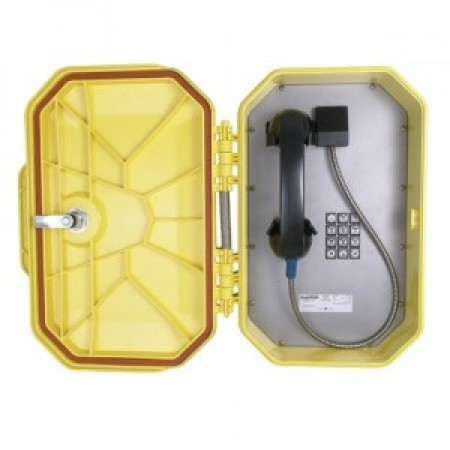 Watertight VoIP Telephone w/ Metal Keypad & Armored Handset Cord