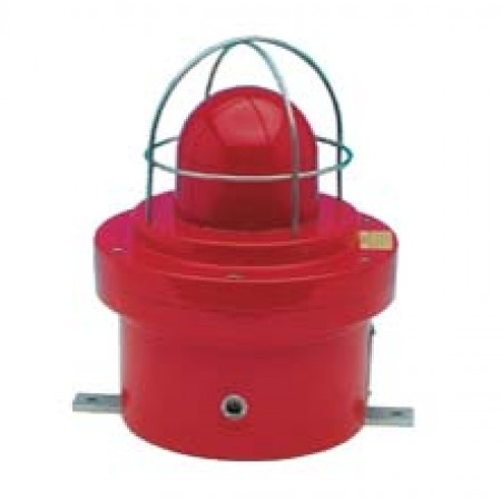 Explosion Proof Strobe With Red Lens and Red Finish 24 VDC